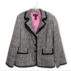 Lane Bryant Tweed Blazer Jacket Size 20